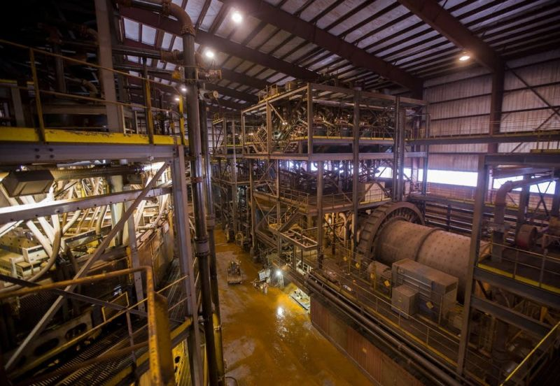 The inside of Magnetation's Plant Two near Grand Rapids, Minn. Photo credit: Derek Montgomery for MPR News 2013
