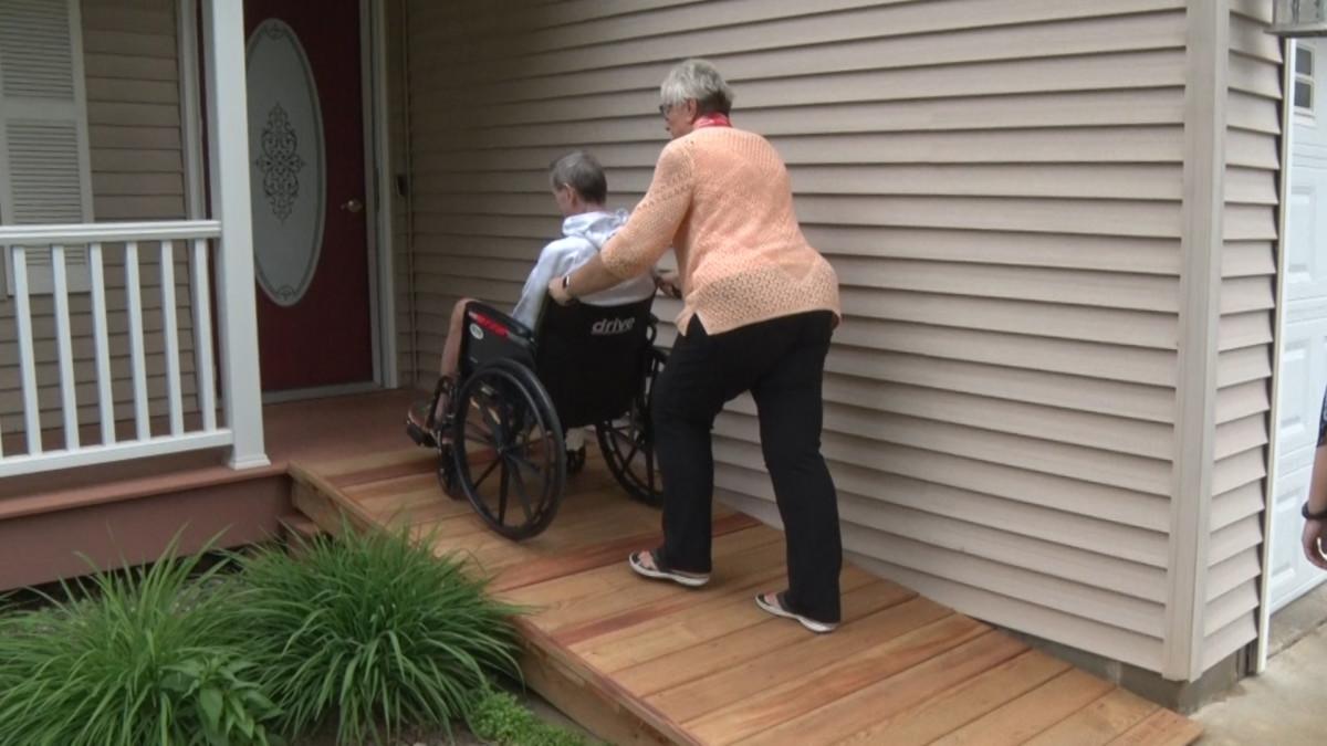 Als Advocate Jp Whalen Receives Home Ramp Thanks To Baxter