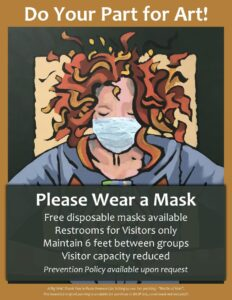Poster asking Watermark patrons to wear a mask and other restrictions
