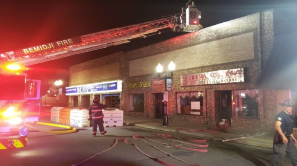 no injuries reported in commercial structure fire in downtown bemidji commercial structure fire